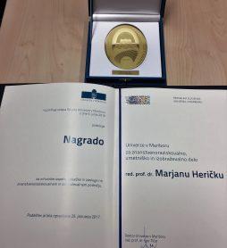Rektorjevi nagradi Marjanu Heričku in Marku Kompari