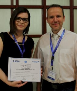 Lucija Brezočnik won the first place in the finals of IEEE Region 8 student paper contest 2017