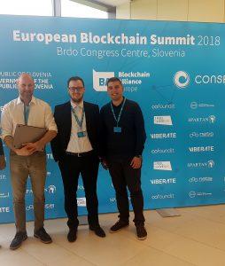 Udeležba na prvem evropskem Blockchain vrhu v Kongresnem centru Brdo pri Kranju