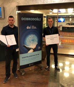 Zmaga študentov na Dnevih slovenske informatike 2018