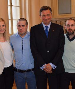 Iztok Fister Jr. na sprejemu pri predsedniku države Borutu Pahorju