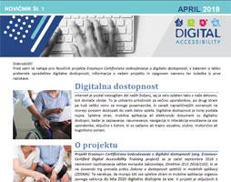 Izdaja novičnika projekta Erasmus+ Certificirano izobraževanje o digitalni dostopnosti